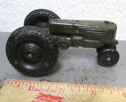 Vintage Aub-rubr Green Tractor Toy, Great Home Decor Item, Auburn Rubber, Nice