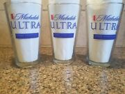 Man Cave | Michelob Ultra Collectible Beer Glass Andtimes Armstrong 16oz 6 Set - New