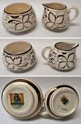 Antique Vintage Grayand039s Pottery Stoke-on-trent England Set Of Sugar And Pitcher