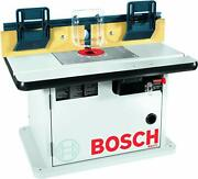 Bosch Router Table Workshop Benchtop Laminated Cabinet 2 Dust Collection Port