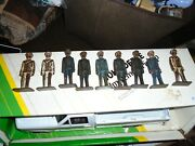 Lot Of 9 Barclay/manoil Navyofficer/train Conductor Figures