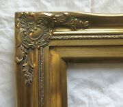 Picture Frame- 8x10 Ornate- Classic Gold Color W/ Liner- Wood/gesso- 637gm