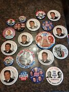 Lot Of 20 Ronald Reagan George Bush Political Presidential Campaign Buttons Pins