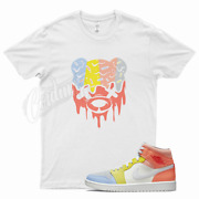 White Drippy T Shirt For To My First Coach Zoom Cmft Mid Low Zitron 1