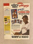 1971 Kelloggs Baseball 3d Complete Cereal Box Flat Willie Mays Rare