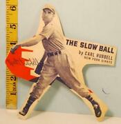 1937 Carl Hubbell Wheaties Cut-out The Slow Ball New York Giants