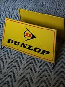 Vintage Metal Dunlop Point Of Sale Tire Display Stand Classic Yellow/red/black