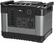 1000w Portable Power Station 1100wh Solar Backup Battery Emergency Power Supply