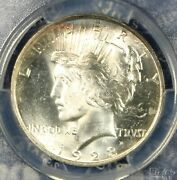 1923 Peace Silver Dollar Pcgs Ms63 Nice Toned Collector Coin Free Shipping