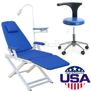 Dental Folding Chair With Rechargeable Led Light+ Doctor Assistant Stool Chair