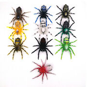 10pcs Spider Soft Silicone Baits 7cm6g Carp Weedless Insect Bait Fishing Lure