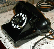 Excellent Antique Western Electric 302 Lucy Rotary Dial Desk Phone W/ F1 Handset