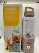 Popbabies Pink Personal Smoothie Portable Blender Rechargeable Mini Mixer