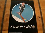 Vintage 60and039s Ski Poster Of Roger Staub Olympic Medalist Skiing @ Vail Ski Area