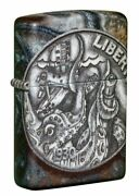 Zippo Windproof Lighter, Pirate Doubloon Coin With Kraken, 49434, New In Box
