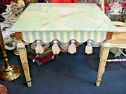 Mackenzie Childs Tassel Table Faux Marble Top Retro Vintage Victoria And Richard