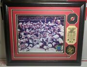 2003 Champions Stanley Cup New Jersey Devils Medallion, Team Pin, Photo 55/5000