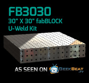 Certiflat Fb3030 2.5and039x2.5and039 Fabblock Diy Modular Welding Table Top Kit Heavy-duty
