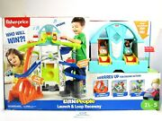 Fisher Price Little People Launch And Loop Raceway Light-up Vehicle Playset New