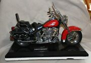 Vintage Telemania Harley Davidson Motorcycle Touch Tone Telephone Red W/box