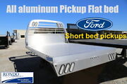 Cm Flatbed Body All Aluminum Alrs 2016 And B4 Ford Short Bed Single Wheel Pickup