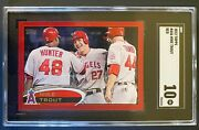 2012 Topps Target Red Border Mike Trout 446 - Rare - Graded Gem 10