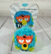Furby Party Rockers Blue W/ Orange Face - Light Up Eyes Party Furby Loose Small
