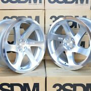 Staggered Directional 19x8.5 19x10 5x112 3sdm 0.06 Silver 6 Spokes Tuner Wheels