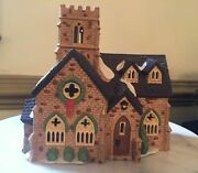 Retired 1989 Dept 56 Hand Painted Dickens Village Knottinghill Church