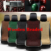 Natural Wooden Woven Beaded Car Seat Cover Support Massage Cushion Chair 5-color
