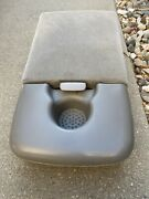 Ford F150 Center Console 60/40 Jump Seat Arm 11x13 Single Cup Holder Gray 97-03