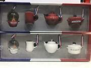 Le Creuset Miniature Ornament Collection Red And Cotton Color 2 Set Japan F/s New