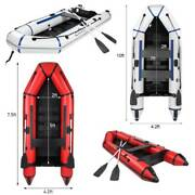 7.5/10ft Camouflage 2-person Inflatable Dinghy Boat Fishing Rafting Water Sports