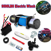 Anbull 9500lbs Electric Winch Synthetic Rope Truck With Wireless Remote Control