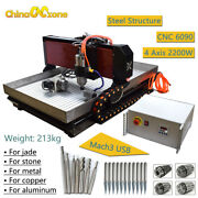 Steel Cnc 6090 4axis Mach3 Engraving Machine For Metal Copper Steel Brass 2.2kw