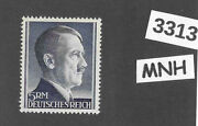 3313andnbsp Mnh Third Reich Germany Postage Stamp 5rm / Adolph Hitler / Sc527 / Wwii