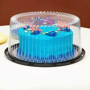 10-11 Plastic Disposable Cake Containers Carriers With Dome Lids And Cake Boards