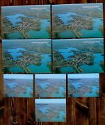 8 Cumberland Wisconsin Postcards Rppc 1960and039s Aerial View Postally Unused