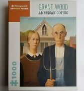 American Gothic By Grant Wood Pomegranate 1000 Artpiece Jigsaw Puzzle 20 X 25
