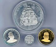 1 5 25 And 100 Ecu 1995 Spain Marine Silver And Gold F. N.m. T