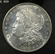 1878-s Morgan Silver Dollar Gem Bu Pl Free S/h After 1st Item