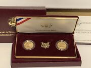1997 Fdr Gold 5 Proof And Uncirculated 2 Coin Set