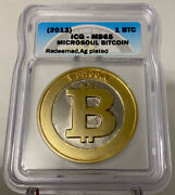 Miscrosoul Pbc Gold Plated 1 Bit Coin Peeled Unfunded Holo And Key Casascius Btcc