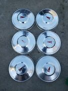 6 Pontiac Dog Dish Poverty Hub Caps 70and039s 80and039s 10 1/4 Inch Wide.