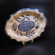 Dish Oval Ceramic Earthenware Pottery Handmade Art Deco Home Ds France N7576