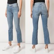 Slvrlake Sara Cropped Flare Jeans Coldwater Canyon Size 28 High Rise