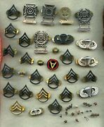 Military Rank And Achievement Pins With Asst. Pcs. 46 Pcs.