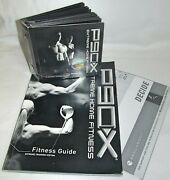 P90x Extreme Home Fitness Beachbody 12 Disk Exercise Workout Training Guide Book