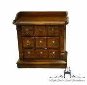 High End Vintage Solid Pine Rustic Country Style 28 Three Drawer Nightstand ...