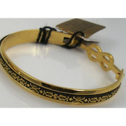 Damascene Gold Geometric Bracelet By Midas Of Toledo Spain Style 2081 2081